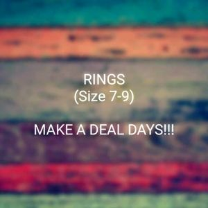 Rings, (Size 7-9)